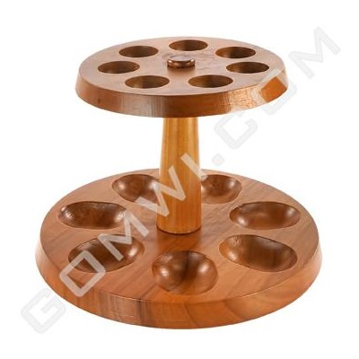 DISC Display Wood Pipes Stand 7 pcs.