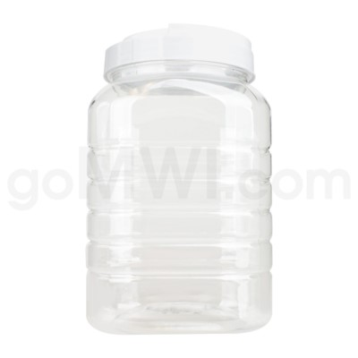 Plastic Square Display Jar 1 Gallon