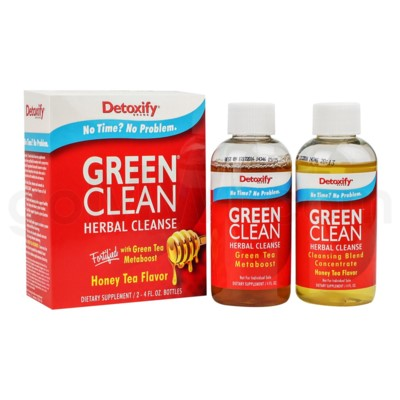 Detoxify Green Clean Honey Tea 4oz x 2