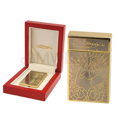 DISC  Ed Hardy Lighter Panther Gold