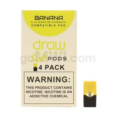 Draw Pods Nic-Salt 6% 4pk- Banana 5PC/BX