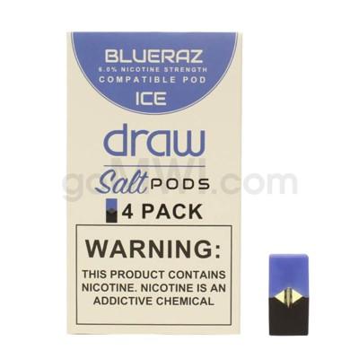 Draw Pods Nic-Salt 6% 4pk- Blueraz Ice 5PC/BX