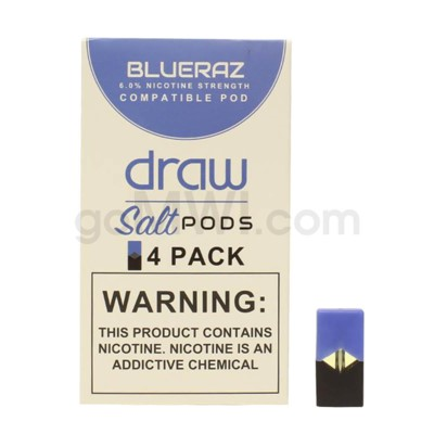 Draw Pods Nic-Salt 6% 4pk- Blueraz 5PC/BX