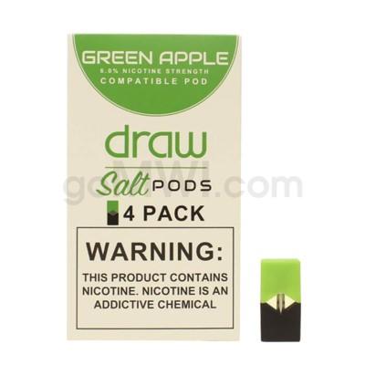 Draw Pods Nic-Salt 6% 4pk- Green Apple 5PC/BX