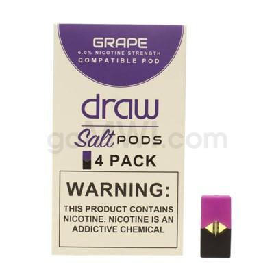 Draw Pods Nic-Salt 6% 4pk- Grape 5PC/BX
