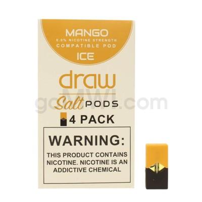 Draw Pods Nic-Salt 6% 4pk- Mango Ice 5PC/BX