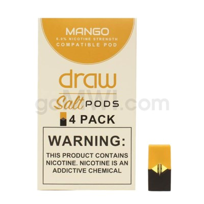 Draw Pods Nic-Salt 6% 4pk- Mango 5PC/BX
