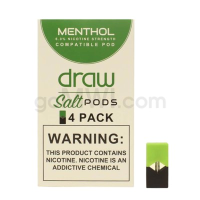 Draw Pods Nic-Salt 6% 4pk- Menthol 5PC/BX