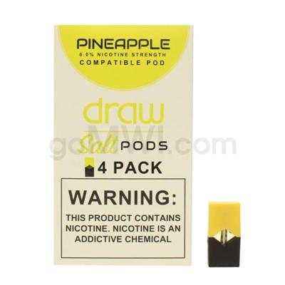 Draw Pods Nic-Salt 6% 4pk- Pineapple 5PC/BX