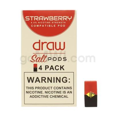 Draw Pods Nic-Salt 6% 4pk- Strawberry 5PC/BX