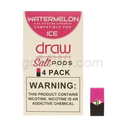 Draw Pods Nic-Salt 6% 4pk- Watermelon Ice 5PC/BX