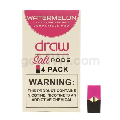 Draw Pods Nic-Salt 6% 4pk- Watermelon 5PC/BX