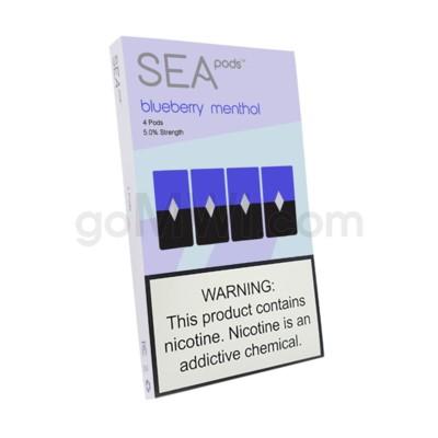 Sea Pods Nic-Salt Pods 1ml 5% 4ct - Blueberry Menthol
