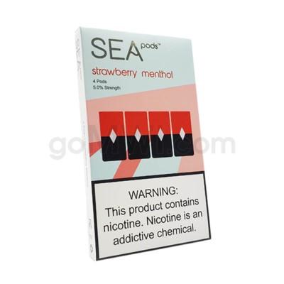 Sea Pods Nic-Salt Pods 1ml 5% 4ct - Strawberry Menthol 8PC/BX