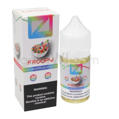 Ziip Salt Nic E-Juice 30ml 50mg Nicotine- Froopy