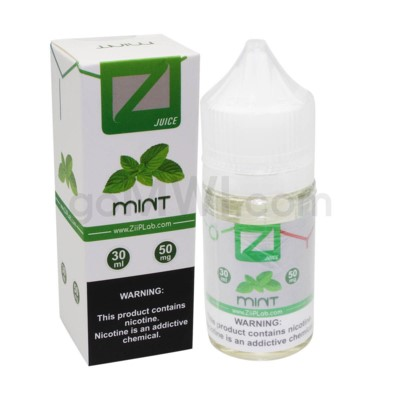 Ziip Salt Nic E-Juice 30ml 50mg Nicotine- Mint