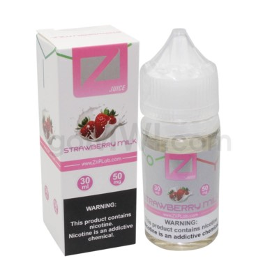Ziip Salt Nic E-Juice 30ml 50mg Nicotine- Strawberry Milk