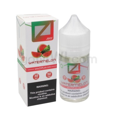 Ziip Salt Nic E-Juice 30ml 50mg Nicotine- Watermelon