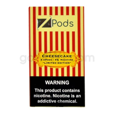 ZPods (ZiiP Lab) Nic-Salt E-Juice 1ml 5% Str 4ct -Cheesecake