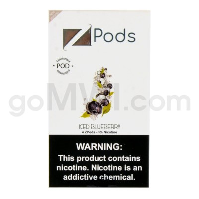 ZPods (ZiiP Lab) Nic-Salt E-Juice 1ml 5% 4ct -Iced Blueberry