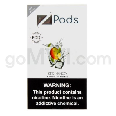 ZPods (ZiiP Lab) Nic-Salt E-Juice 1ml 5% 4ct -Iced Mango