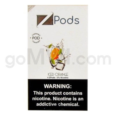 ZPods (ZiiP Lab) Nic-Salt E-Juice 1ml 5% 4ct -Iced Orange