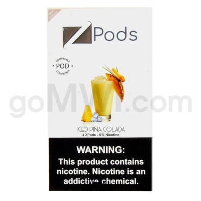 ZPods (ZiiP Lab) Nic-Salt E-Juice 1ml 5% 4ct- Ice Pina Colad