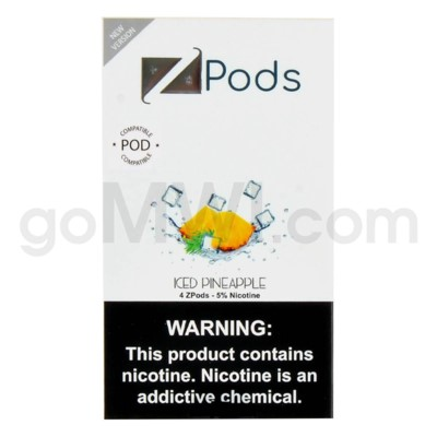 ZPods (ZiiP Lab) Nic-Salt E-Juice 1ml 5% 4ct -Iced Pineapple