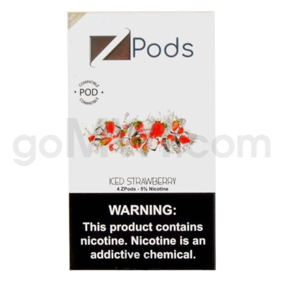 ZPods (ZiiP Lab) Nic-Salt E-Juice 1ml 5% 4ct -Iced Strawberr