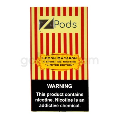 ZPods (ZiiP Lab) Nic-Salt E-Juice 1ml 5% 4ct -Lemon Macaron