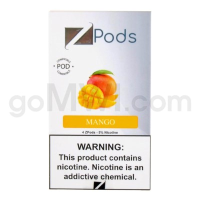 ZPods (ZiiP Lab) Nic-Salt E-Juice 1ml 5% 4ct -Mango