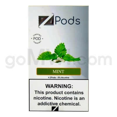 ZPods (ZiiP Lab) Nic-Salt E-Juice 1ml 5% 4ct -Mint