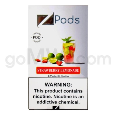 ZPods (ZiiP Lab) Nic-Salt Juice 1ml 5% 4ct -Strawberry Lemona