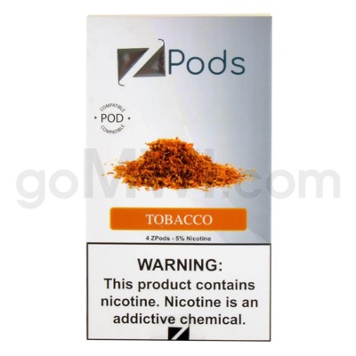 ZPods (ZiiP Lab) Nic-Salt E-Juice 1ml 5% 4ct -Tobacco