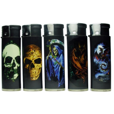 Lighter Big ElectronicSkulls/ Fire 50CT/BX