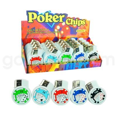 DISC Lighter Poker Chip 25PX/BX 40/CS