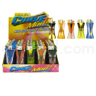 DISC Nulite Curve Mini Lighter:  Butterfly  50PC/BX