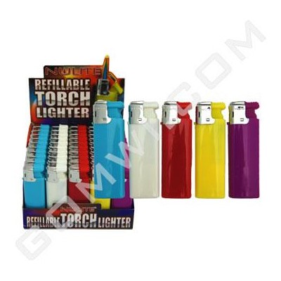 DISC Lighter Electronic Refillable 50CT/BX