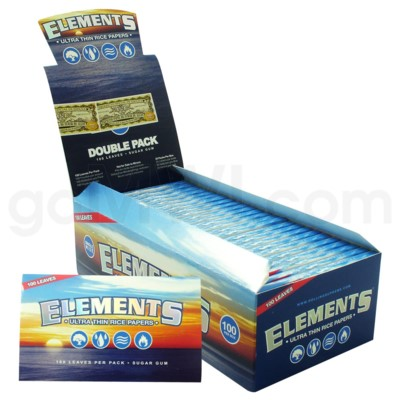 Elements Ultra Rice Paper Single Wide Double Pack 100/pk 25ct