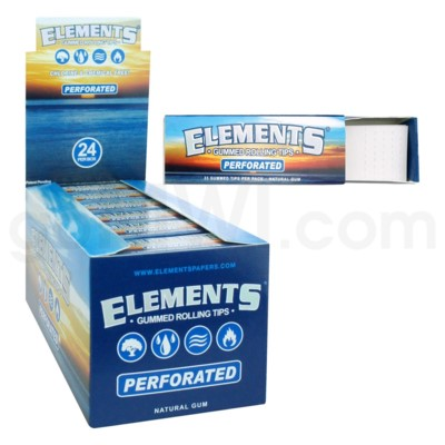 Elements Gummed Rolling Tips 33pk 24ct/bx 30bx/cs