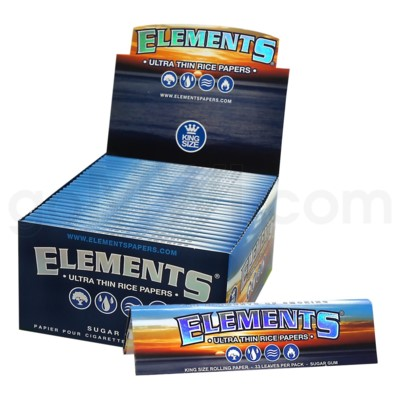 Elements Ultra Rice King Size Slim 32/pk 50ct/bx