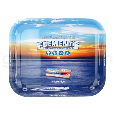 Elements Rolling Tray Metal Large