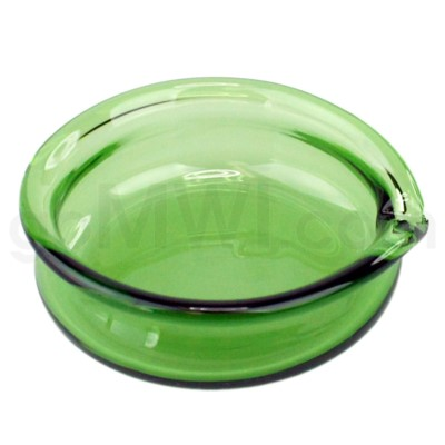 Glass Receptacle Oil Dish-Green