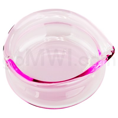 Glass Receptacle Oil Dish-Pink