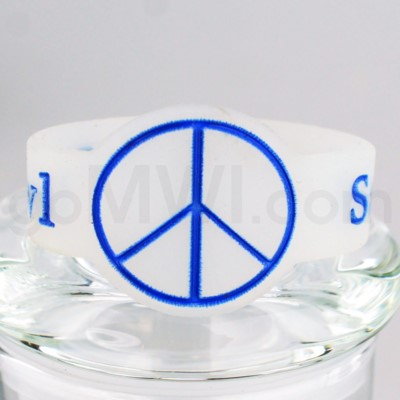 Save-A-Bowl Silicone Band Wrap Peace Sign