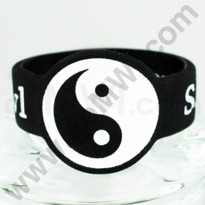 Save-A-Bowl Silicone Band Wrap Yin-Yang - Black/White