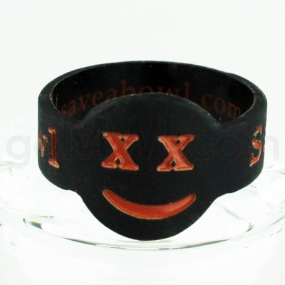 Save-A-Bowl Silicone Band Wrap X-Out - Black/Brown