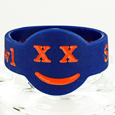 Save-A-Bowl Silicone Band Wrap X-Out - Blue/Orange