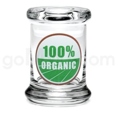 Glass Jar 420 Pop-Top 1/8oz-100% Organic