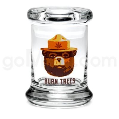 Glass Jar 420 Pop-Top 1/8oz-Burn Trees